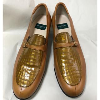 マドラス(madras)のMadras ローファー ゴールド25.0cm  イタリア製(ローファー/革靴)