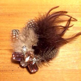 ユナイテッドアローズ(UNITED ARROWS)の羽根のヘアアクセサリー(ブローチ/コサージュ)