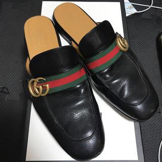 グッチ(Gucci)のgucci レザースリッパ(サンダル)