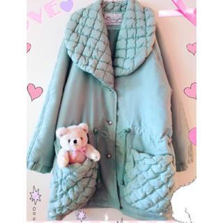 メリージェニー(merry jenny)のミントグリーン 中綿コート yakusoku グニフニ  ファンシー(ロングコート)