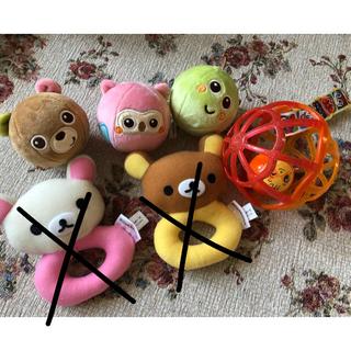 サンリオ(サンリオ)の【美品】リラックマ 赤ちゃん おもちゃ ラトル がらがら(がらがら/ラトル)