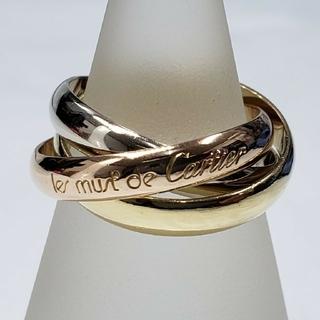 カルティエ(Cartier)のCartier カルティエ トリニティ リング スリーカラー 750 K18(リング(指輪))