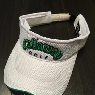 キャロウェイゴルフ(Callaway Golf)のCallaway キャロウェイ 白 メッシュのサンバイザー(サンバイザー)