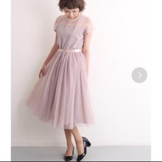 メルロー(merlot)のデコルテシースルーワンピース(ミディアムドレス)