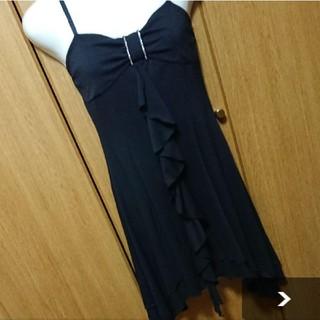 シマムラ(しまむら)の最終価格!キャミワンピース    ドレス   リボン   黒    レディース(ミディアムドレス)