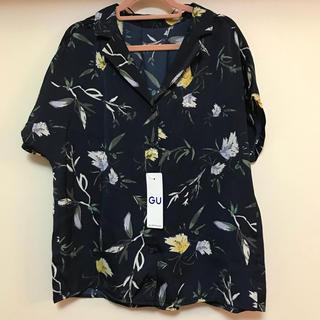 ジーユー(GU)のブラウス 花柄 新品 GU(シャツ/ブラウス(半袖/袖なし))