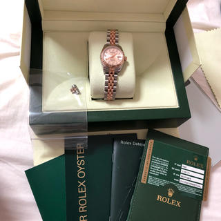ロレックス(ROLEX)のロレックス-デイジャスト-レディース 10Pダイヤコンピュータ(腕時計)