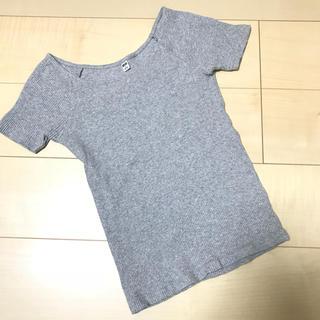 ユニクロ(UNIQLO)の断捨離中‼️UNIQLOリブバレエネックT  Sサイズ(Tシャツ(半袖/袖なし))