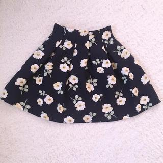バイバイ(ByeBye)のバイバイ♡お花柄ふんわりシルエットスカート♡♡(ミニスカート)
