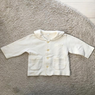 MUJI (無印良品) - 無印良品 セーラー襟ブルゾン オフホワイト 中古