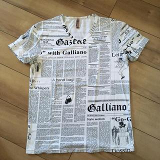 ガリアーノ総柄ニュースペーパーTシャツマルジェラジバンシーディオールサンローラン