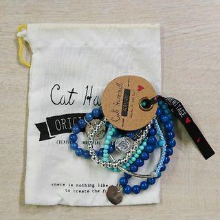 キャットハミル(CAT HAMMILL)のキャットハミル6連ブレスレットブルーターコイズ(ブレスレット/バングル)