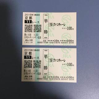 グァンチャーレ シンザン記念'15 単勝馬券(その他)