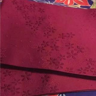 【新品未使用】No.8 とNo.2のセット 落ち着いた赤 えんじ色 単衣帯 (浴衣帯)