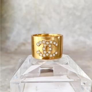 シャネル(CHANEL)の正規品 シャネル 指輪 ゴールド ココマーク ラインストーン オパール リング(リング(指輪))