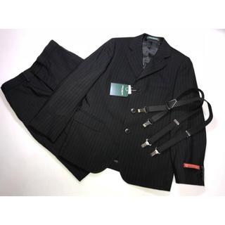 5a8914a097374 ミキハウス(mikihouse)の新品130cmミキハウス3点スーツ上下セットアップジャケットパンツサスペンダー