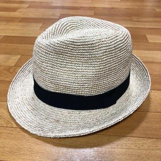 ムジルシリョウヒン(MUJI (無印良品))のほぼ新品 無印良品ラフィア中折れハット(麦わら帽子/ストローハット)