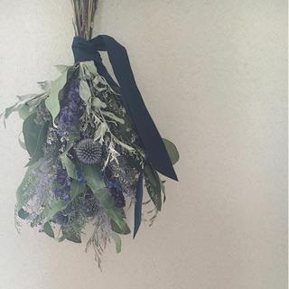 *green × purple・ドライフラワースワッグ*(ドライフラワー)