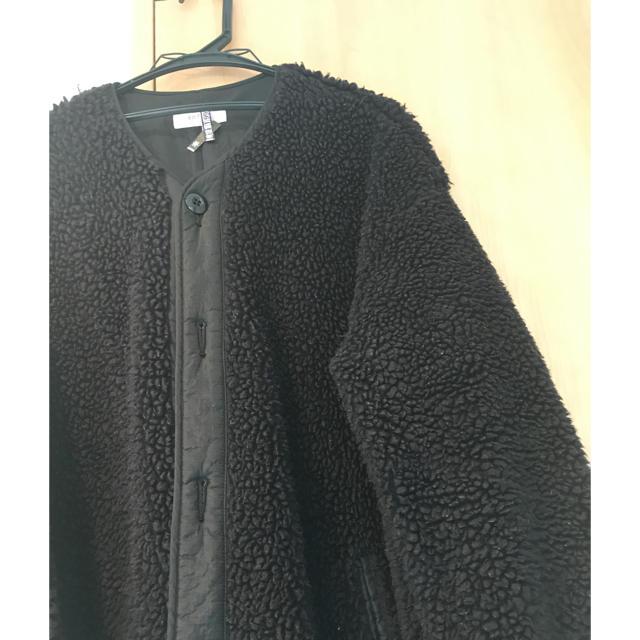 Edition(エディション)のeditionエディションボアコート≫≫≫black黒。 レディースのジャケット/アウター(ロングコート)の商品写真