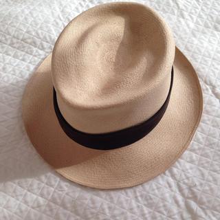 シャネル(CHANEL)のシャネル パナマ帽子(麦わら帽子/ストローハット)