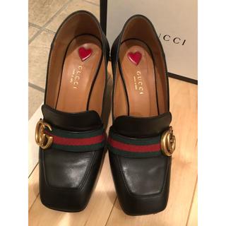 グッチ(Gucci)のGUCCI ミッドヒール ローファー(ローファー/革靴)