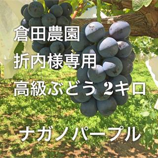 倉田農園 折内様専用 高級ぶどう2キロ(フルーツ)