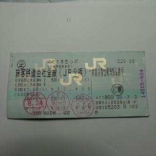 青春18きっぷ 残り2回分 山陽本線の代替輸送に使用可(鉄道乗車券)