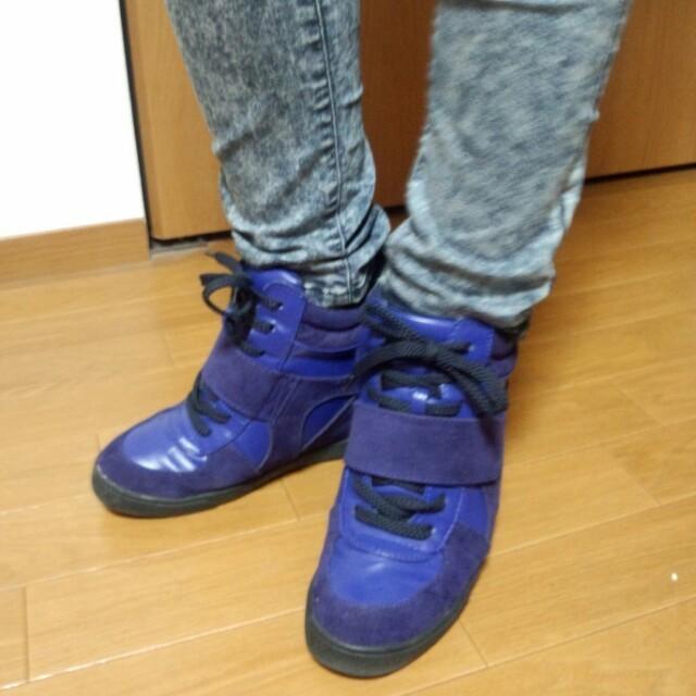 collect point(コレクトポイント)のBLISSPOINT☆インヒールスニーカ レディースの靴/シューズ(スニーカー)の商品写真
