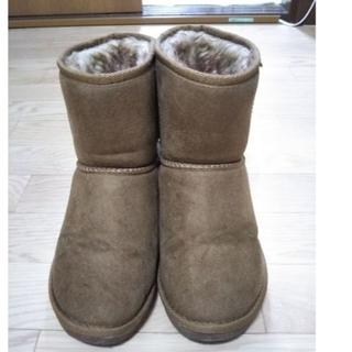 ムートンブーツ 茶色 M 23~23.5(ブーツ)