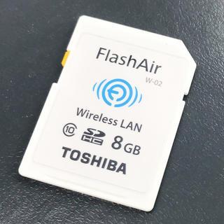 トウシバ(東芝)のFlash Air 8GB SDカード Class10 TOSHIBA (デジタル一眼)