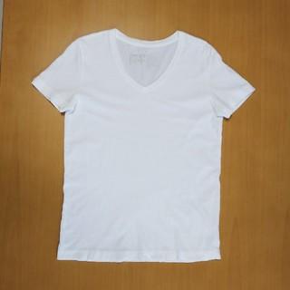ムジルシリョウヒン(MUJI (無印良品))のTシャツ vネック 無印良品  カットソー トップス 半袖 白(Tシャツ(半袖/袖なし))