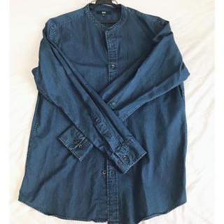 ユニクロ(UNIQLO)のデニム柄カラーバンドシャツ(シャツ)