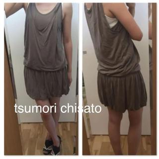 67acbaa5fbfef ツモリチサト(TSUMORI CHISATO)の☆訳あり激安☆ tsumori chisato キャミ ワンピース(