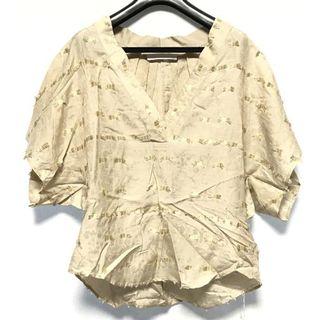 マメ(mame)のmame 17AW ジャカードトップス ベージュ 1 新品(シャツ/ブラウス(半袖/袖なし))