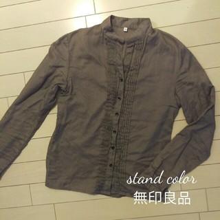 ムジルシリョウヒン(MUJI (無印良品))のコットン100% 無印 スタンドカラーシャツ(シャツ/ブラウス(長袖/七分))