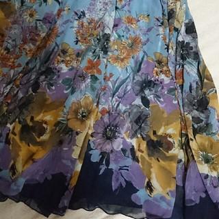 アッシュペーフランス(H.P.FRANCE)のライチ  花柄ロングスカート(ロングスカート)