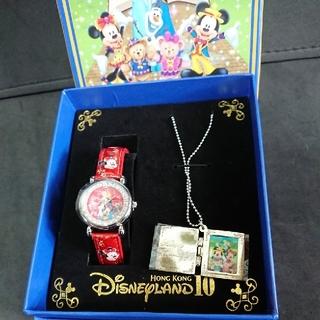 ダッフィー(ダッフィー)のダッフィー 香港 ディズニーランド 10周年 記念 腕時計&ネックレス セット(腕時計)