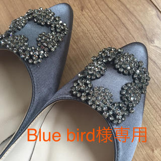 Blue bird様専用♡ビジューフラットパンプス(ハイヒール/パンプス)
