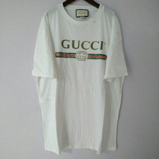 f3c5d6e43688 グッチ 白Tシャツ Tシャツ(レディース/半袖)(バックプリント)の通販 2 ...