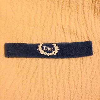 ディオール(Dior)のタオル地 ターバン 青(ヘアバンド)