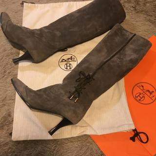 エルメス(Hermes)のエルメス スエードブーツ 定価30万(ブーツ)