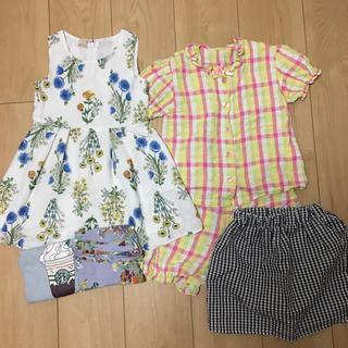 プティマイン(petit main)の女の子 95-100 まとめ売り5点 petit mainワンピース(Tシャツ/カットソー)