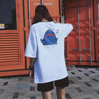 韓国ファッション Tシャツ サメ(Tシャツ(半袖/袖なし))
