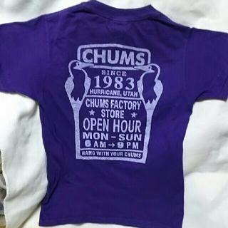 チャムス(CHUMS)の新品CHUMSチャムスパープル紫バックプリントTシャツ(Tシャツ/カットソー(半袖/袖なし))