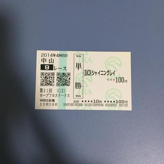 シャイニングレイ ホープフルS'14 単勝馬券(その他)