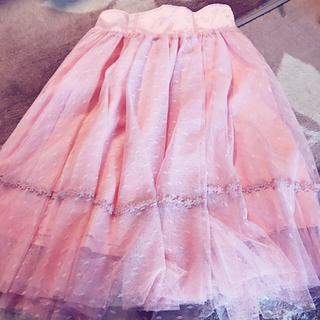 リズリサ(LIZ LISA)のピンク チュールスカート(ひざ丈スカート)