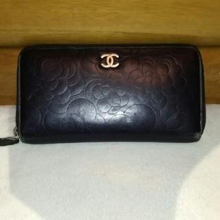 シャネル(CHANEL)のruru777様専用 CHANEL ラウンドファスナー 長財布 カメリア 型押し(財布)