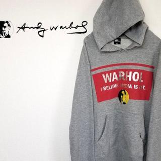 アンディウォーホル(Andy Warhol)のアンディウォーホル AndyWarhol SPRZ パーカー グレー Sサイズ(パーカー)