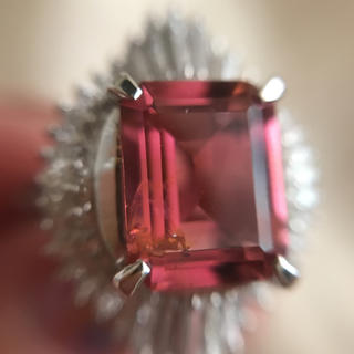 定価120万円 透明度の高いピンクトルマリンリング(リング(指輪))