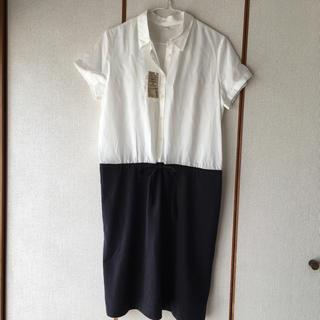 ムジルシリョウヒン(MUJI (無印良品))のかなさま専用 新品 無印良品 シャツ襟半袖ワンピース M(ひざ丈ワンピース)